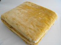 Velurová deka béžová