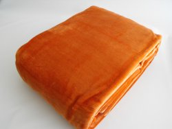 Velurová deka tehlová