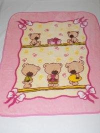 Velurová detská deka macíky