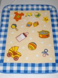 Velurová detská deka hračky
