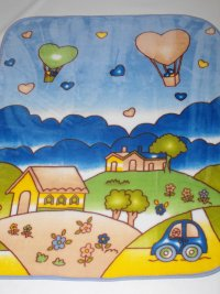 Velurová detská deka krajinka