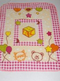 Velurová detská deka ABC