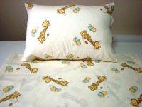 Detské postelné prádlo žirafa béžova