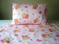 Detské postelné prádlo macko ružový
