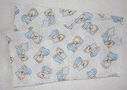 Plienka vzorovaná medved s modrým vankúšikom