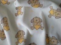 Plienka vzorovaná psík žlté srdce