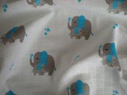 Plienka vzorovaná Sloník modrý